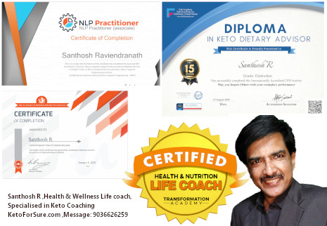 Santhosh R, Health and Wellness Coach, Keto For Sure